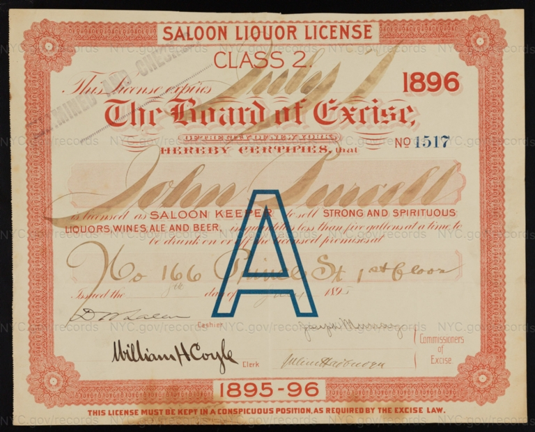 License No. 1517: John Purcell, 166 Prince St.