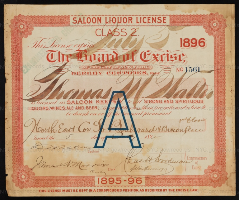 License No. 1561: Thomas M. Walter, northwest corner of Southern Boulevard and Brocon Place