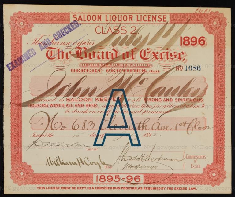 License No. 1686: John McCauley, 683 11th Ave.