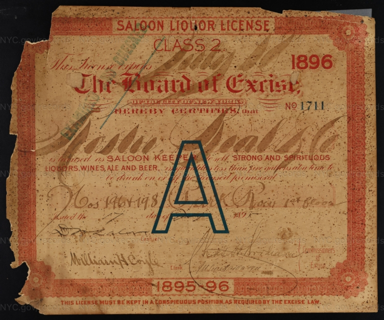 License No. 1711: Moshe Bial, 196-198 Park Row
