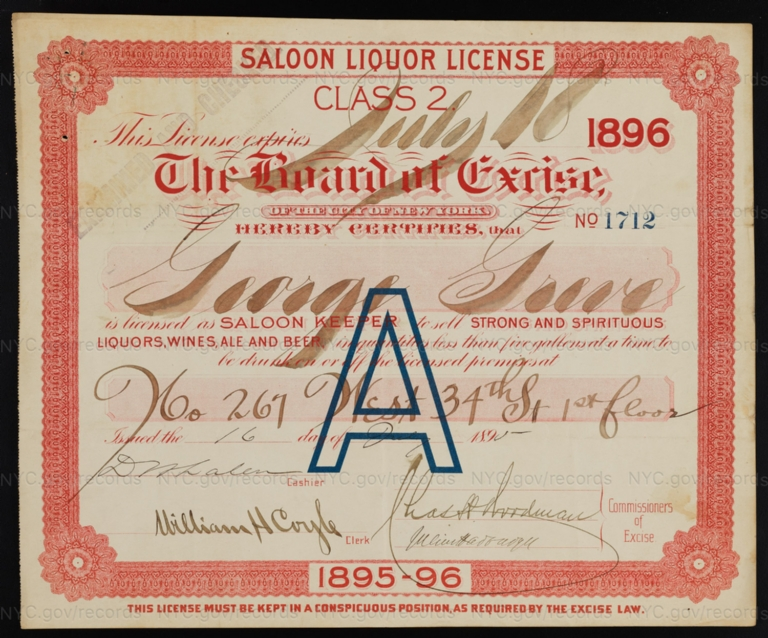 License No. 1712: George Gieve, 267 W. 34th St.