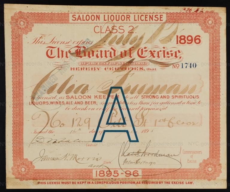 License No. 1740: Celia Freeman, 129 Pitt St.