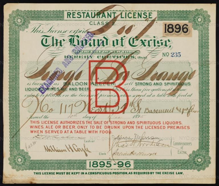 License No. 235: George C. La Grange, 117 W. 34th St.; assigned to DuVivier & Co.