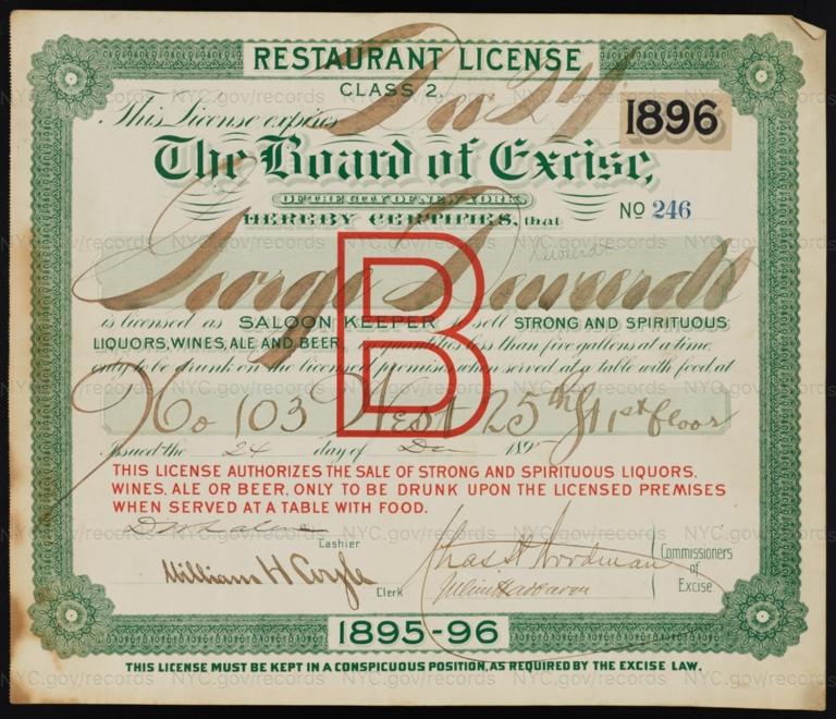 License No. 246: George Deweerdt, 103 W. 25th St.