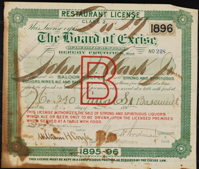 License No. 248: John J. Clark, Jr., 340 Canal St.; assigned to Thomas E. Leeman