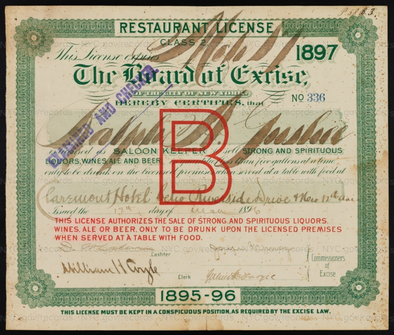 License No. 336: Ralph A. Gushee, Claremont Hotel near Riverside Drive and 12th Avenue