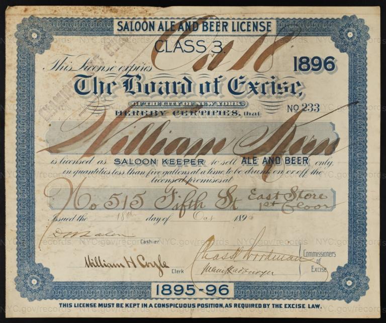 License No. 233: William Kern, 515 E. Fifth St.
