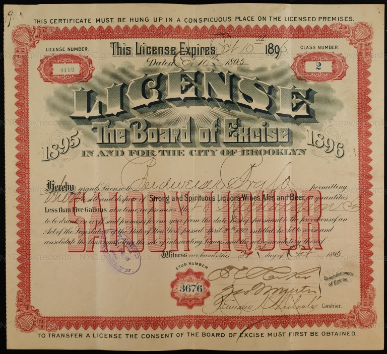 License No. 4112: Budweiser Brewing Company, 28 Richardson Ave.