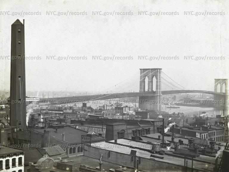 Brooklyn Bridge from Beekman Street
