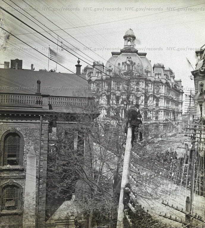 Post Office, looking north from Broadway from St. Paul's Church