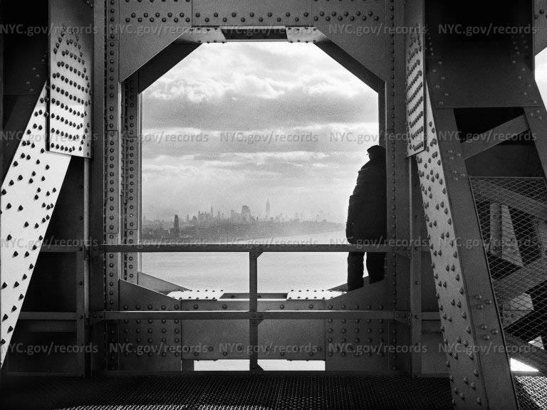 From New York tower of George Washington Bridge, 168th Street & Hudson River