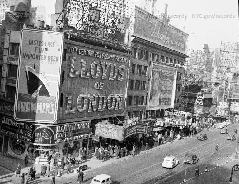 Astor Theatre, 45th Street and Broadway, New York City