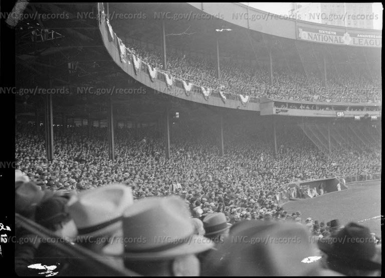 """""""World Series"""", Polo Grounds near Harlem River and Speedway, north of 155th Street"""