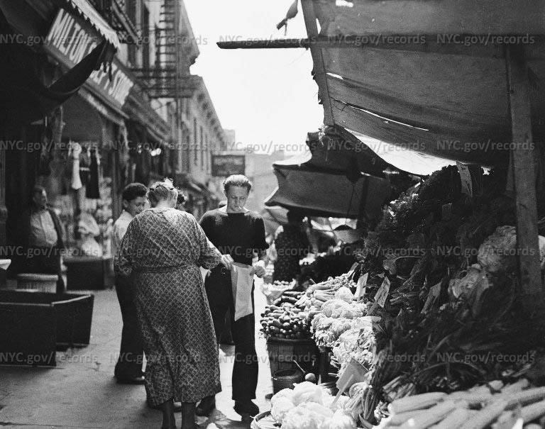 Italian vegetable sidewalk stand - Bleeker