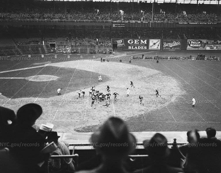 Football game at Polo Grounds between Texas A & M and Manhattan College