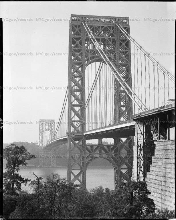 George Washington Bridge, 168th Street and Hudson River