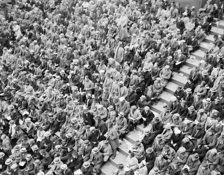 Crowd - bleachers (World Series 1936)