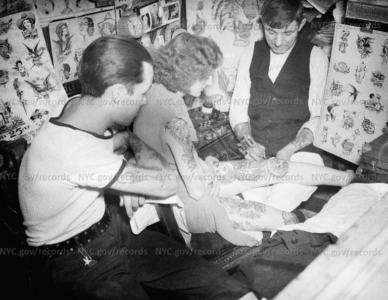 Wagner, tattoo artist on the Bowery