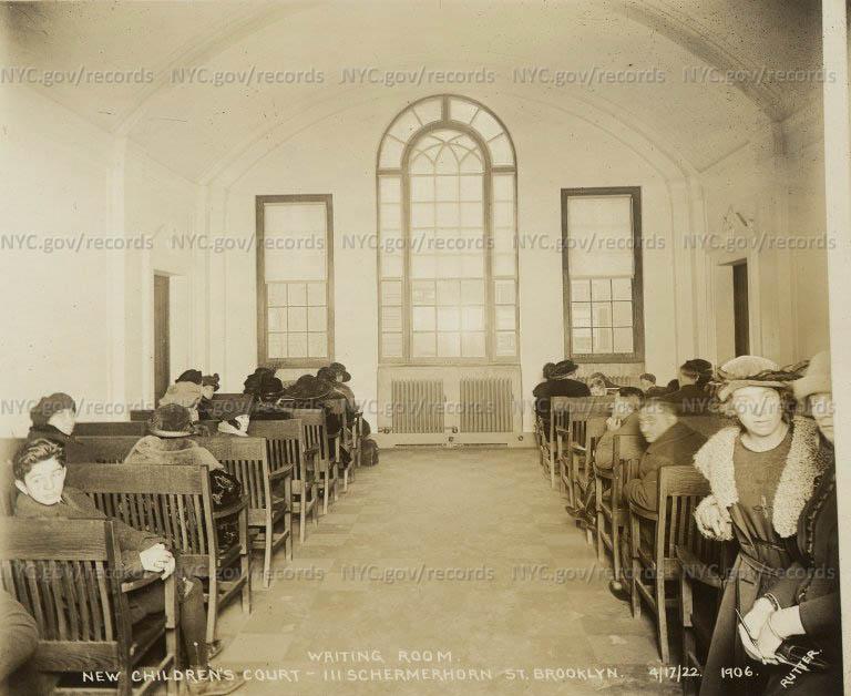 The Children's Court Building, 111 Schermerhorn Street, waiting room
