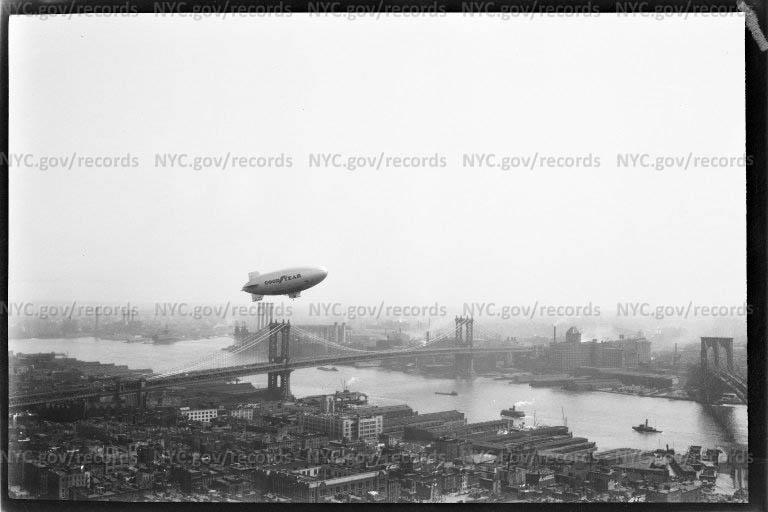 Goodyear Blimp over East River