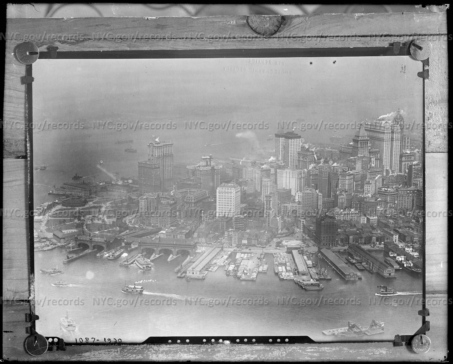 Lower Manhattan panorama, looking south and west (under-exposed)
