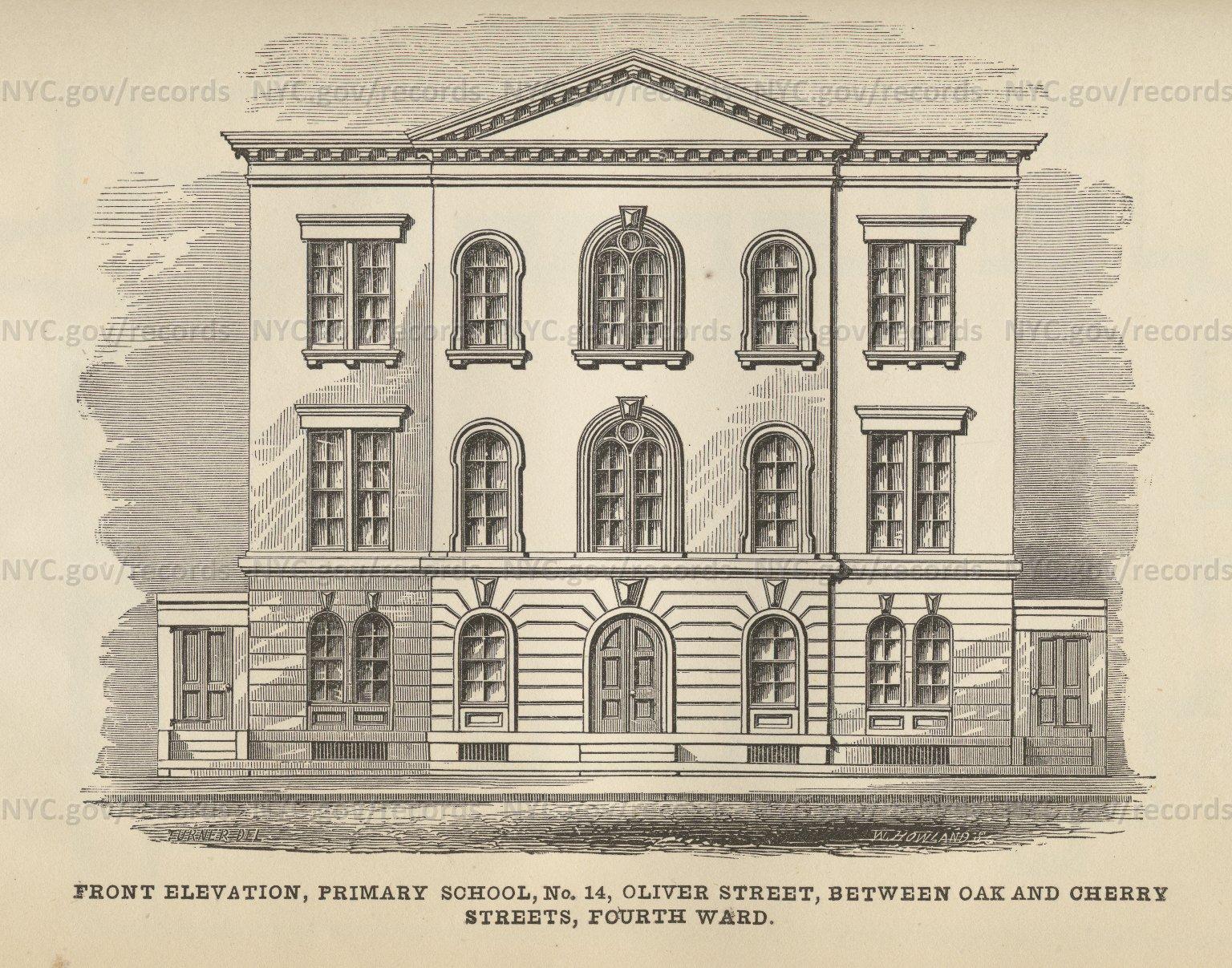 Primary School 14: front elevation